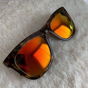 Against the Sun Tortoise & Reflective Sunglasses